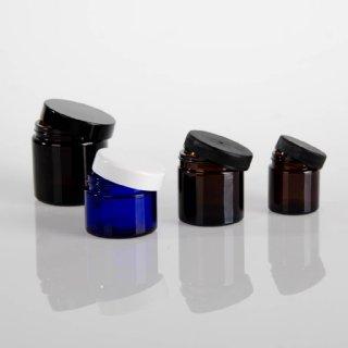 div. Cremedosen Braun- & Blauglas © Anna Wimmer